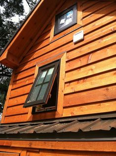 Close up of Bathroom Window in Tiny Living house by Dan Louche