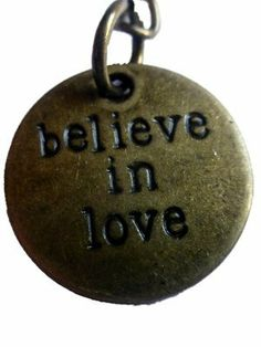 """Inspirational Uplifting Engraved """"believe in love"""" Metal Bronze Tone Key Ring By KeyParcels Gift Wedding favours by KeyParcels, http://www.amazon.co.uk/dp/B00KEAYJEO/ref=cm_sw_r_pi_dp_fVzGtb0RR5EQB"""