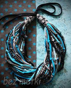 BEZ METKI: fabrick necklace | naszyjnik z dzianin