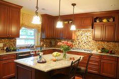 Traditional kitchen design in Oakland Township, MI.