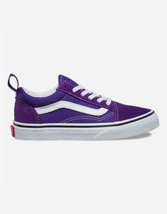VANS Old Skool Elastic Heliotrope   True White Kids Shoes Vans Shoes Old  Skool 9ab30b5e11