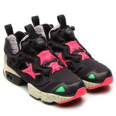 REEBOK INSTA PUMPFURY BLACK/INDIAN MAGENTA #sneaker