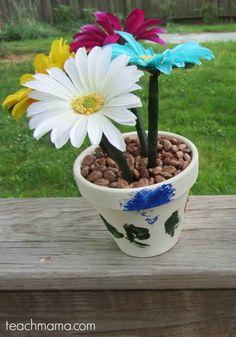how to make flower pot pens teachmama.com 2