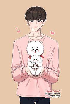 Hoseok es el hijastro de kim taehyung y hermanastro de kim jungkook. Bts Chibi, Bts Taehyung, Bts Jimin, Jungkook Fanart, Kpop Fanart, Cute Cartoon Wallpapers, Animes Wallpapers, Fan Art, Catty Noir