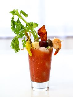 The Best #BloodyMary Recipe and a Build Your Own Bloody Mary Bar - http://www.foodiecrush.com/the-best-bloody-mary-recipe-bloody-mary-bar/