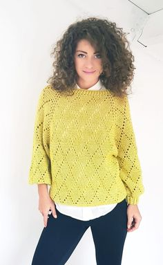 """Crochet Blusas Puloverul meu prețios - """"My Precious"""" Sweater ByKaterina Crochet Pattern for sizes from Small to Large with chart and video tuttorial. Crochet Bodycon Dresses, Black Crochet Dress, Crochet Blouse, Crochet Hook Sizes, Crochet Hooks, Free Crochet, Knit Crochet, Crochet Sweaters, Sweater Making"""