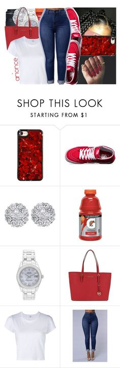 """- 089"" by arionce ❤ liked on Polyvore featuring Vans, Eos, Allurez, Gatorade, Rolex, MICHAEL Michael Kors and RE/DONE"