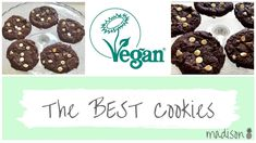 Easy chocolate cookie recipe | They're vegan!!  Vegan chocolate cookies with white chocolate chips