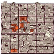 Japan Town Map