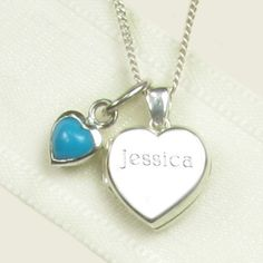 Elinor Rose December Birthstone Heart Locket for Christenings