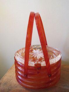 Vintage Lucite Beehive Handbag Purse