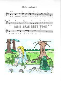 Holka modrooká Ukulele, Piano, Kindergarten, Homeschool, Songs, Fictional Characters, Musica, Kindergartens, Preschool