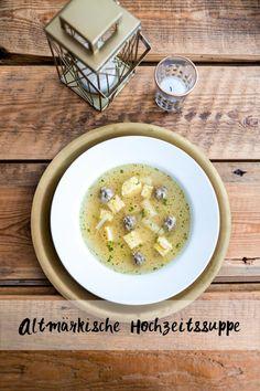 Altmärkische Hochzeitssuppe Rezept Cheeseburger Chowder, Food And Drink, Soup, Healthy, Recipes, Blog, Website, Regional, German