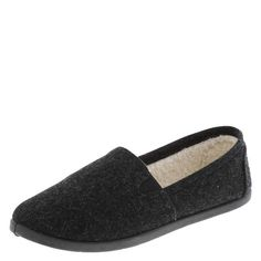 This classic Airwalk slip-on features a flexible upper with stretchy twin gores for easy on/off, cozy lining, a soft padded insole for comfort, and a lightweight, flexible outsole. Wool and manmade materials.