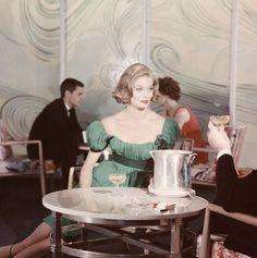 Fashion photography by John Rawlings, 1950s.