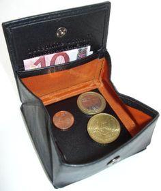 JOSYBAG LEDER Geldbörse CENT - schwarz - mit Wiener Schachtel HANDARBEIT Geldbeutel Münzbox