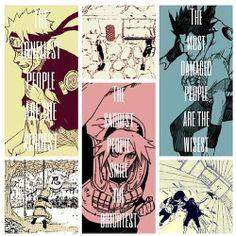 Naruto Uzumaki, Sakura Haruno, Sasuke Uchiha. Team 7 and what each member represents.