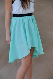 high-low skirt