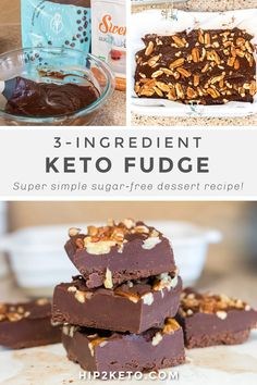 Low Carb Sweets, Low Carb Desserts, Healthy Sweets, Just Desserts, Best Fudge Recipe, Fudge Recipes, Dessert Recipes, Keto Recipes, Recipes Dinner