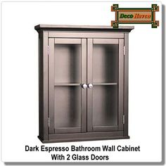 Bathroom Wall Cabinet With Shelves In Cinnamon Cherry Finish The