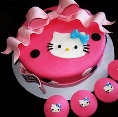 Hello Kitty Cakes And Cupcakes | Hello Kitty Cake and CupcakesI loved making this cake so much! This ...