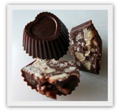 Rå sjokolade med hjemmelaget, sukkerfri krokan! (En helseblogg om jakten etter en friskere...)