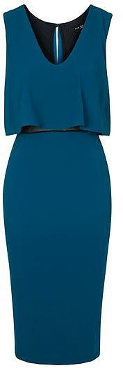 Womens petrol blue nathe midi dress by tfnc from Topshop - £35 at ClothingByColour.com