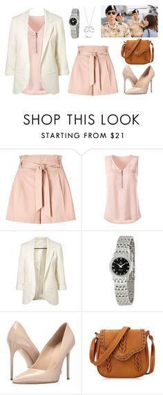 """Kang Mo Yeon of Descendant of The Sun "" by dindydind on Polyvore featuring Miss Selfridge, OMEGA, Massimo Matteo, Disney, dots, songhyekyo, descendantofthesun and kangmoyeon"