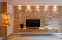 62 Ideas For Wall Brick Living Room Fireplaces Living Room Tv Wall, Stone Wall Cladding, Stone Wall Living Room, Living Room Tv, Stone Wall Design, Living Room Design Modern, Brick Living Room, Tv Room Design, Stone Walls Interior