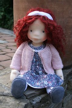 Rosalie 17 pulgadas waldorf inspirado muñeca muñecas waldorf