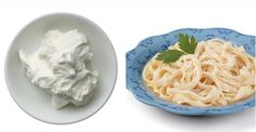 lighter alfredo sauce using greek yogurt. I made this for dinner tonight- it's awesome. I added a bunch of steamed vegetables & some slow-cooked onions and a pantload of garlic, oregano, basil & black pepper.