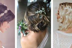 Penteados de casamento para cabelos curtos para madrinhas e convidadas