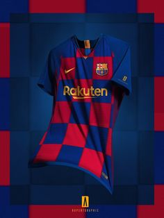 The Barcelona home kit introduces a shocking design, replacing the club's trademark stripes with checkers, a la Croatia. Barcelona Home Kit This is the Nike FC Barcelona home jersey. Camisa Barcelona, Barcelona Shirt, Barcelona Jerseys, Cr7 Messi, Messi Soccer, Lionel Messi, Neymar, Club Leon Fc, Fifa