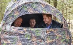 (left to right) Conrad Dickinson, Will Nicholls and Prince Harry sit in a hide where Nicholls demonstrates how he uses the medium of wildlife photography to promote the conservation of red squirrels at Northumberland Wildlife Trust's Red Squirrel Northern England (RSNE) Project, where staff are working with the local community to safeguard the red squirrel (Sciurus vulgaris) population, with the main focus on a grey squirrel (Sciurus carolinensis) control programme at Frankham Woods near ...