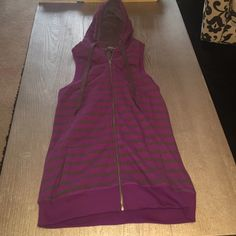 Forever 21 Long fitted zip up Vest! Purple and dark gray long fitted tunic vest! No tags but never worn! Forever 21 Jackets & Coats Vests