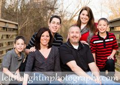 Family on a bridge by Let the Light in Photography serving Bristow VA, Manassas VA, Haymarket VA & Gainesville VA