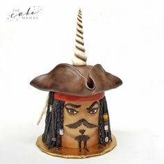 Pirates of the Caribbean Jack Sparrow inspired unicorn cake. Call or email to order your celebration cake today. Caribbean Jacks, Pirates Of The Caribbean, Cakes Today, Cupcake Wars, Love Rainbow, Jack Sparrow, Cake Decorating Tips, Cake Birthday, Unicorn Party