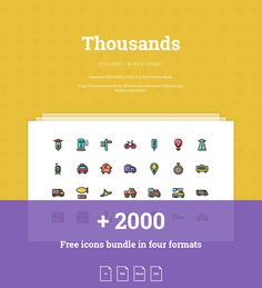 2000+ Free Thousands icons bundle - Colored and wired on Behance