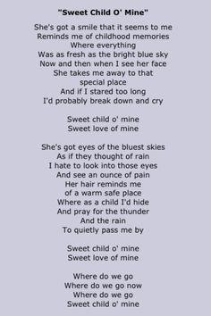 Guns N Roses,sweet child of mine