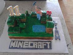 Minecraft video game cake