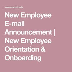 New employee welcome kit pinteres new employee e mail announcement new employee orientation onboarding thecheapjerseys Gallery