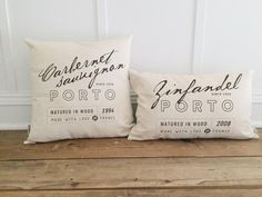 Who doesn't love a little wine-themed home decor? Cozy up your living space with our handmade linen pillow covers by So Vintage Chic! // sovintagechic.com