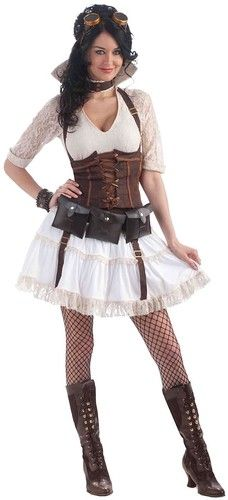 Steampunk Sally Costume Victorian Revolution Fits Up to Size 14 16 Fnt | eBay