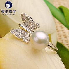 Aliexpress.com : Buy Original 925 Sterling SILVER RING WITH WHITE FRESHWATER CULTURED PEARL Authentic Cultured Elegance Stackable Ring YSETB009 from Reliable silver plated spacer beads suppliers on pearls by yuansheng