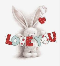 Valentines Art, Valentine Day Cards, Happy Valentines Day, Clipart Baby, Cheap Stamps, Baby Clip Art, Art Drawings For Kids, Bunny Art, Tatty Teddy