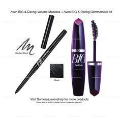 Avon BIG & Daring ~ Big & False Lash & Glimmerstick & Mascaras ~ New ~ Free P&P  #Avon