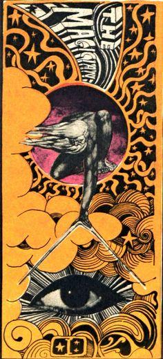 The Magician Martin Sharp Tarot Card Art Kunst Inspo, Art Inspo, Retro Poster, Vintage Posters, Art And Illustration, Cover Art, Martin Sharp, The Magician Tarot, Pop Art