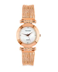 GORGEOUS. Rose Champagne Watch.