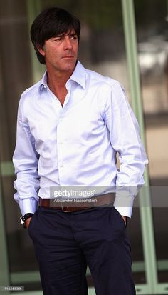 Joachim Loew, head coach of Germany arrives for a press conference on June 5, 2011 in Vienna, Austria.