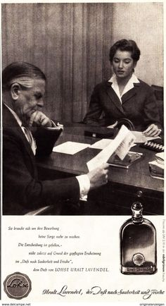 Werbung - Original-Werbung/ Anzeige 1955 - LOHSE URALT LAVENDEL PARFUM / MOTIV BEWERBUNG - ca. 170 x 320 mm